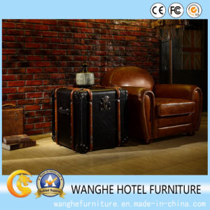 Creative Luxury Leather Side Table Coffee Table Cabinet pictures & photos