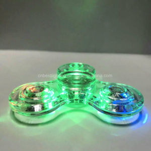 New design LED Light Hand Spinner Fidget Crystal Plastic pictures & photos
