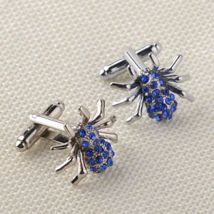 Metal Crawling Spider with Crystal Animal Novel Cufflinks Cuff Links pictures & photos
