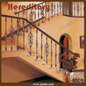 Rose Color Villa Interior Cast Aluminum Stair Handrail (SJ-B028) pictures & photos