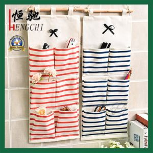 100% Cotton Canvas Hanging Organizer Storage Bag with Multi Pockets pictures & photos