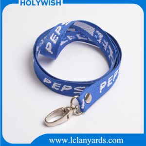 Fashion Custom Woven and Embroidery Lanyard with Metal Hook