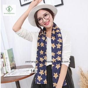 Europe Cravat Silk Stain Fashion Lady Scarf Factory pictures & photos