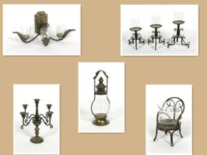 Shabby Country Chic Natural Wood Candlestick pictures & photos