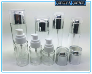 Transparent Clear Glass Cosmetic Bottle and Glass Cosmetic Jar pictures & photos