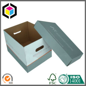 Quick Setup Corrugated Paper Storage Box with Lid pictures & photos
