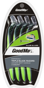 Hot Sale, 3 Blade Disposable Razor with Soap, Goodmax pictures & photos