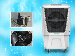 Eco-Friendly Portable Evaporative Air Cooler with Three-Side Cooling Pads pictures & photos