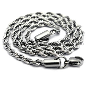 Women Stainless Steel Rope Link Chain 2mm 3mm 4mm pictures & photos