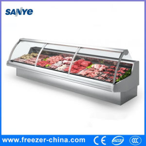 Flat up Glass Door Deli Meat Display Chiller for Supermarket pictures & photos