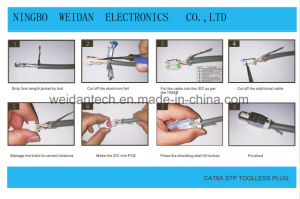 CAT6A/CAT6 FTP STP RJ45 Plug Assemblied Style pictures & photos