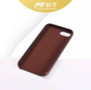Popular Good-Looking Brown Leather Full-Cover Mobile Case pictures & photos
