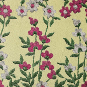 1.0mm Newest Flower Printed PU Leather for Handbags (A794) pictures & photos