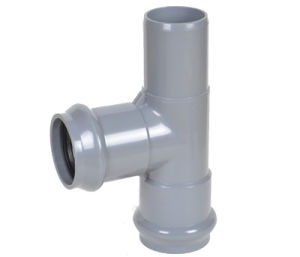 PVC Pipe Fitting Two Faucet and One Insert Regular Tee pictures & photos