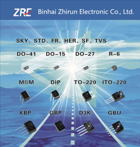 1A Sr120L Thru Sr1100L Low Vf Schottky Barrier Rectifiers Diode Do-41 Package pictures & photos