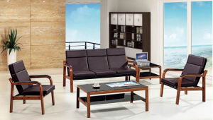 Italy Design Classic Wooden Office Furniture Leather Office Sofa (NS-S2328) pictures & photos