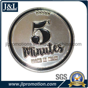 Hot Sale Shiny Nickel Lapel Pin with Safety Pin on Backside pictures & photos