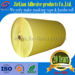 Automotive Painting Yellow Masking Tape Jumbo Roll pictures & photos