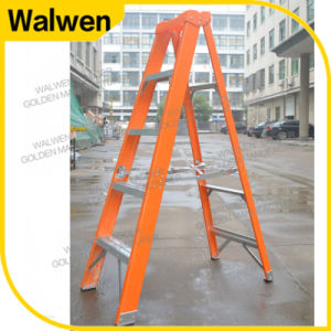 Plastic Top Double Side Strong Insulated a Frame Fiberglass Step Ladder Wholesale pictures & photos