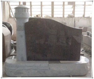Shanxi Black American Style Upright Headstone Granite Monuments pictures & photos