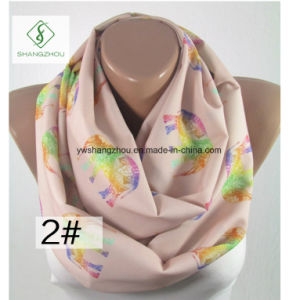 Europe Fiber Elephant Digital Printed Neck Warmers Fashion Scarf Factory pictures & photos