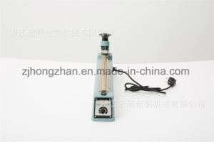 Hand Press Impulse Sealing Machine for Rice Flour Pastry Packing with Cutter pictures & photos