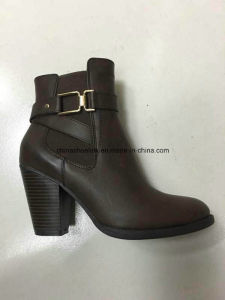China Lady Winter Boots Supplier PU Leather Rb Sole pictures & photos