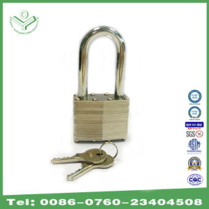 40mm Zinc Plating Long Shackle Laminated Steel Padlock (740LSZ) pictures & photos