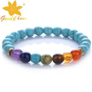 SMB-16112819 New Fashion Original Green Turquoise Semi Precious Stone Beads