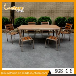 Metal Garden Outdoor Furniture Cafe Restaurant Aluminum Polywood Chair Table Set pictures & photos