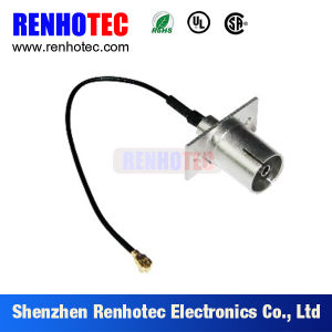 RF Connector MCX to SMA Panel with 4 Holes for Rg58 Cable Assembly pictures & photos