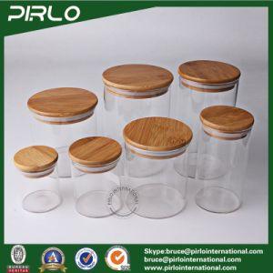 170ml Clear High Borosilicate Glass Empty Jar Small Food Storage Glass Jar with Bamboo Sealing Cap 170ml Borosilicate Glass Jar pictures & photos