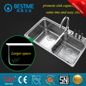 2016 New Hot Sale Stainless Steel Kitchen Sink (BS-7014F) pictures & photos