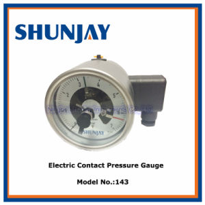 100mm All Ss and Back Connection Electric Contact Pressure Gauge