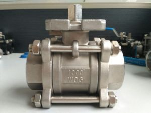 1000psi Ss304 Three Piece Female Threaded Ball Valve (3PC) pictures & photos