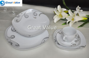 20PCS Square Dinner Set with Gold Print, Crockery Items pictures & photos