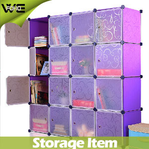 Translucent Doors Opaque Curly Patterned Plastic Wardrobe Storage Systems pictures & photos