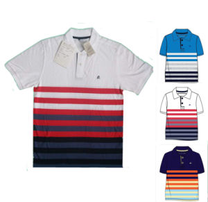 Men′s Yarn Dyed Polo Shirt 100% Cotton