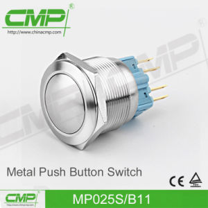 25mm Flat Head Push Button Switch (MP25S/F11-E) pictures & photos