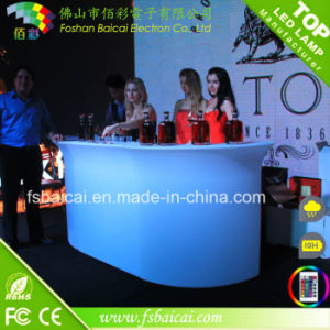 Rechargeable Illuminated Hotel Club Plastic LED Bar Counter pictures & photos