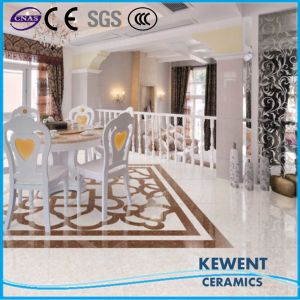 Building Material Double Loading White Pulati Polished Porcelain Tile Vitrified Floor Tile Good Price pictures & photos