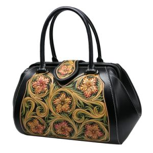 Lady Fashion Hangbag Genuine Leather Top Handle Designer Tote Bag pictures & photos