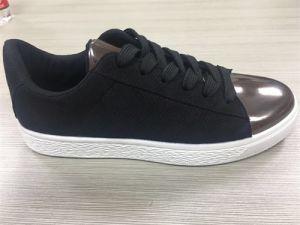 Canvs Shoe Cotton Fabric Rubber Sole Shoes pictures & photos