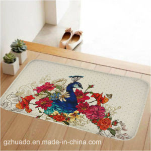 59*39cm Pattern Bath Non-Slip Mat Coral Fleece Rug Memory Foam Bathroom Rug Mat Floor Carpet pictures & photos