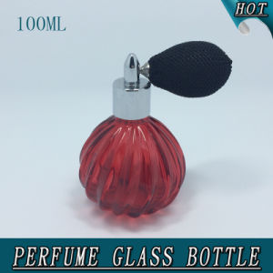 100ml Diagonal Crystal Glass Perfume Bottle with Gasbag Pump Sprayer pictures & photos