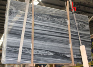 New Popular Color Grey-Blue Marble Slab Blue Wooden Vein for Construction pictures & photos