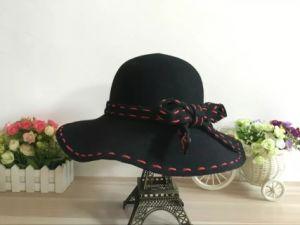 Leisure Black Cloche Bowler Felt Hat for Woman pictures & photos