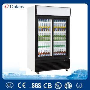 double sliding glass door display cooler fridge 800 liter lg800bfs