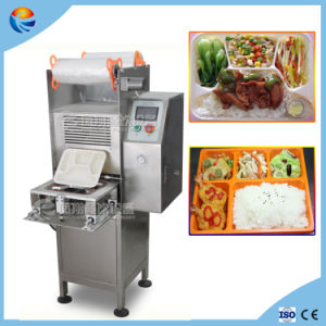 Industrial Vertical Automatic Fast Food Box Cup Trays Sealer Sealing Packing Machine pictures & photos