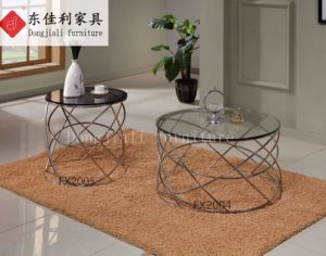 Round Coffee Table with Tempered Glass Top pictures & photos
